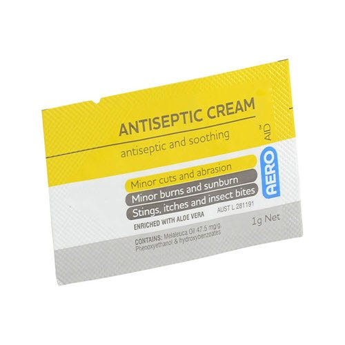 Aero Healthcare AERO ANTISEPTIC CREAM SACHET (Yellow) 1g *SINGLE*