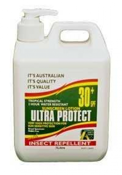 Barry Jackson Ent ULTRA PROTECT SUNSCREEN SPF30+ LOTION & INSECT REPELLENT PUMP 1L