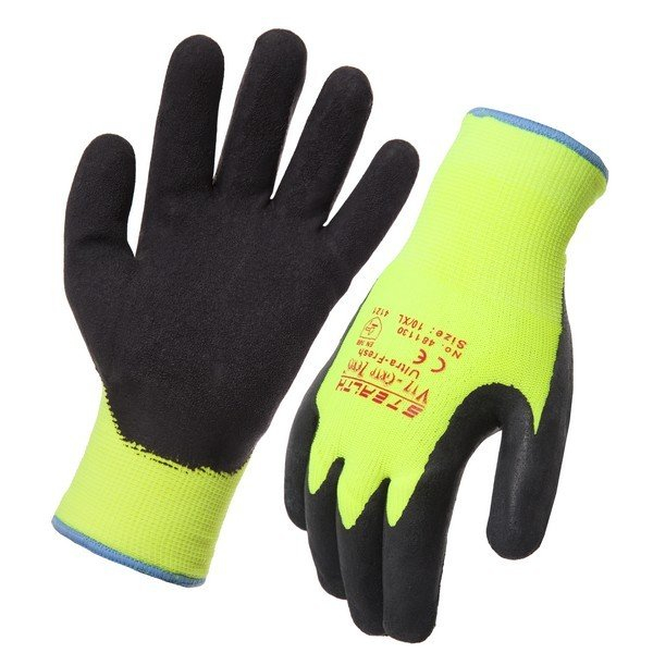 IND GLOVE: SD STEALTH VIZ-GRIP ZERO FREEZER Fluoro Size 10 SD481130-10