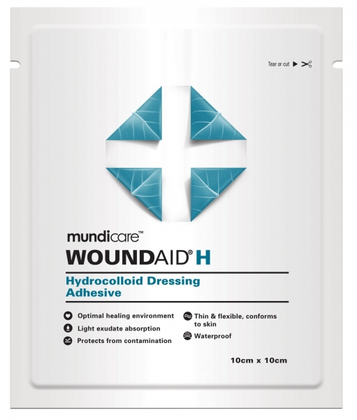 Mundipharma MUNDICARE WOUNDAID H 0.3mm DRESSING 5cm x 10cm  10