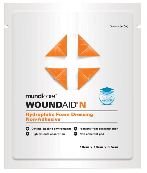 Mundipharma MUNDICARE WOUNDAID N 5mm DRESSING 10cm x 10cm  10