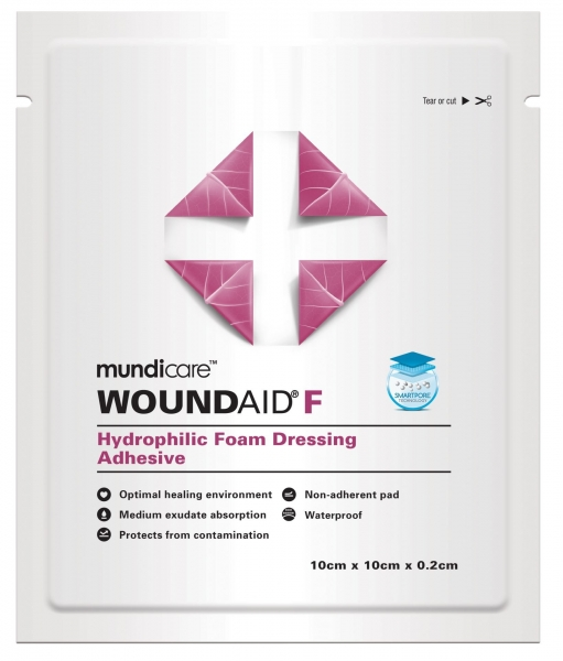 MUNDICARE WOUNDAID F 2mm DRESSING 10cm x 10cm  10 MP7008411