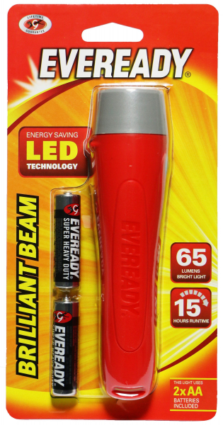 Energizer TORCH EVEREADY LED [2 x AA Batteries included] with Lanyard loop