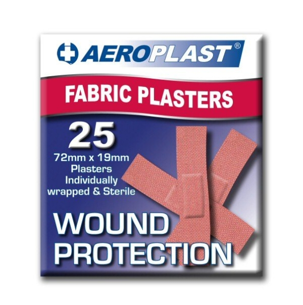 Aero Healthcare AEROPLAST FABRIC STRIPS 25  RED