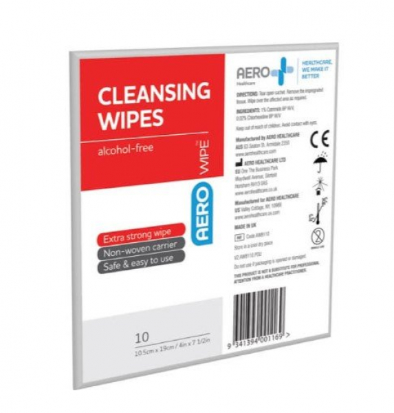 Aero Healthcare AEROWIPE ANTISEPTIC WIPE  (Alcohol Free) 10