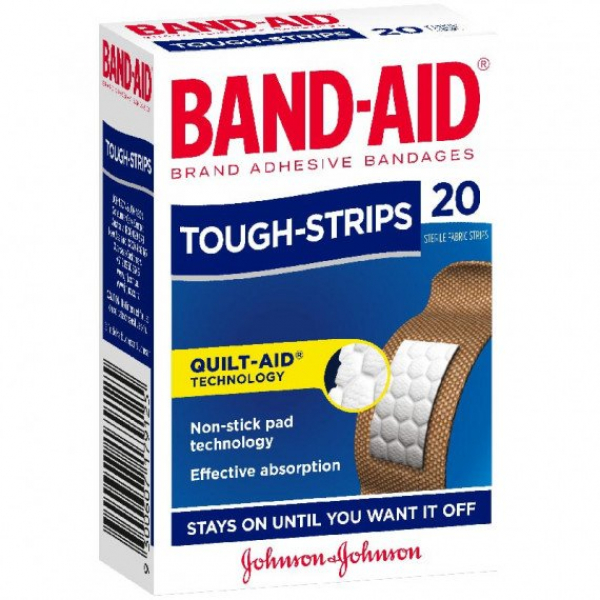 Johnson & Johnson JJ BAND-AID TOUGH STRIPS FABRIC REGULAR 20