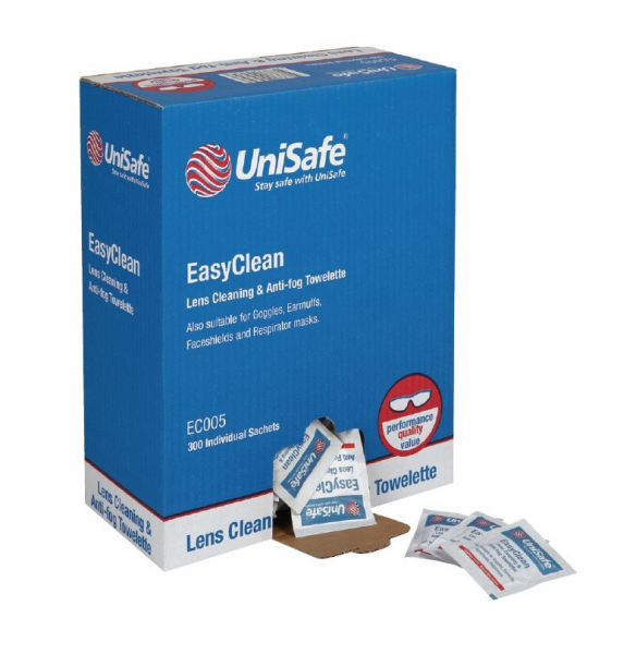 3M Aust LENS CLEANING SACHET WIPE UNISAFE / 3M ANTI-FOG  300