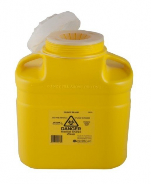 ASP Healthcare SHARPS CONTAINER FITTANK 12L SCREW TOP LID