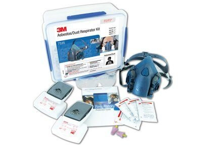 3M Aust RESPIRATOR: 3M HALF FACE MASK REUSABLE STARTER KIT ASBESTOS/DUST P2/P3  7535 MEDIUM