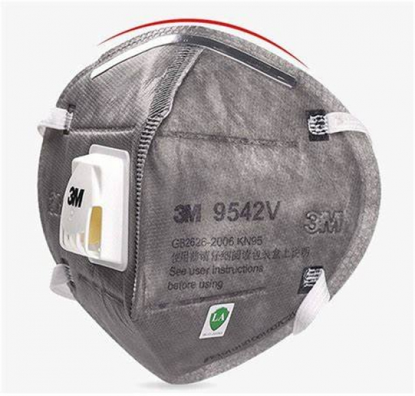 3M Aust MASK INDUSTRIAL: 3M P2 FLAT FOLD WITH VALVE NUISANCE LEVEL ORGANIC VAPOUR 20