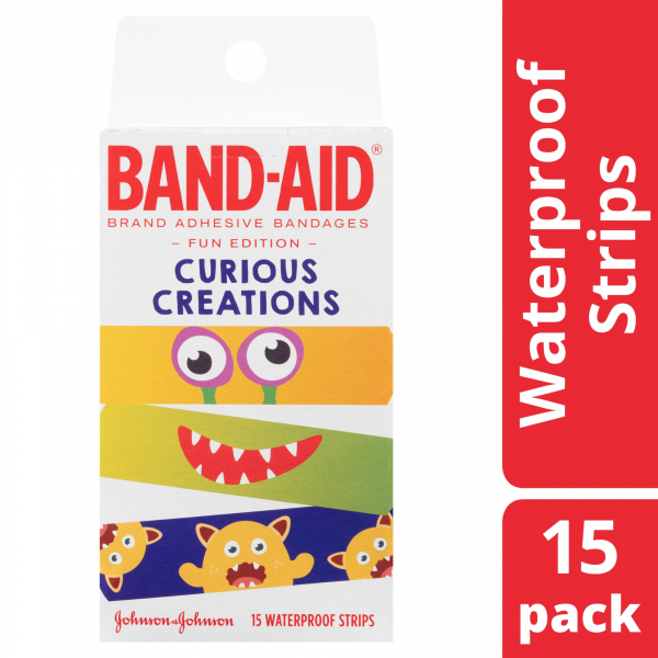 Johnson & Johnson JJ BAND-AID CHARACTER CURIOUS CREATIONS 15   - NEW
