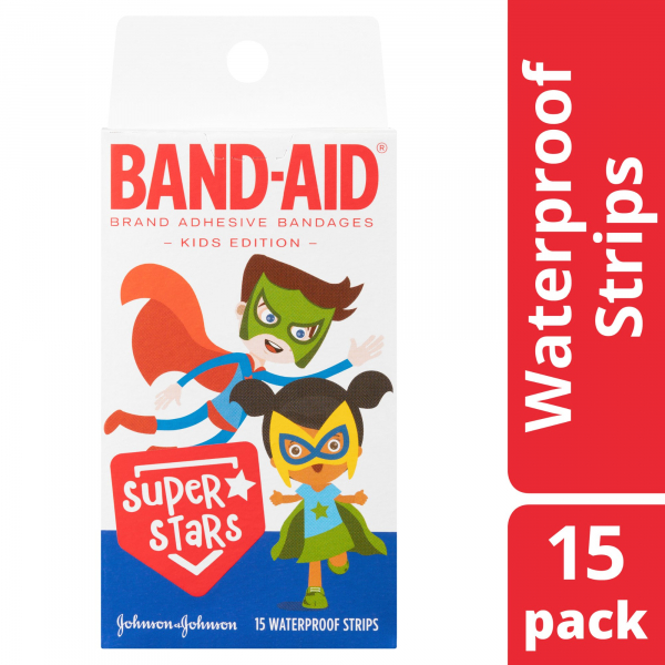 Johnson & Johnson JJ BAND-AID CHARACTER SUPER STARS 15   - NEW
