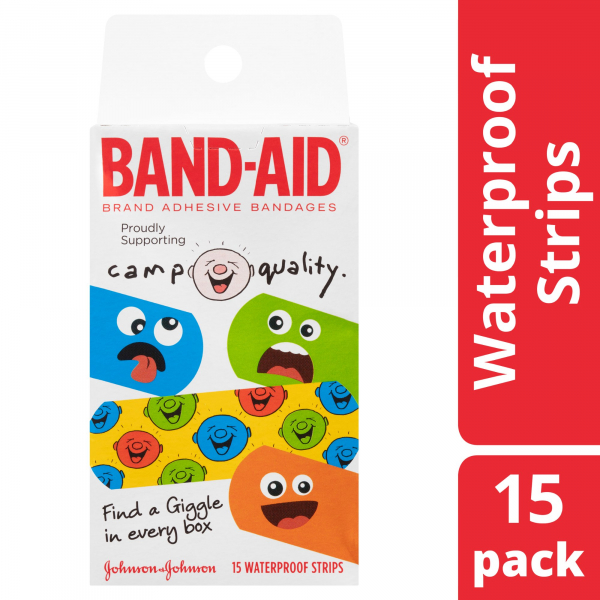 Johnson & Johnson JJ BAND-AID CHARACTER CAMP QUALITY 15   - NEW