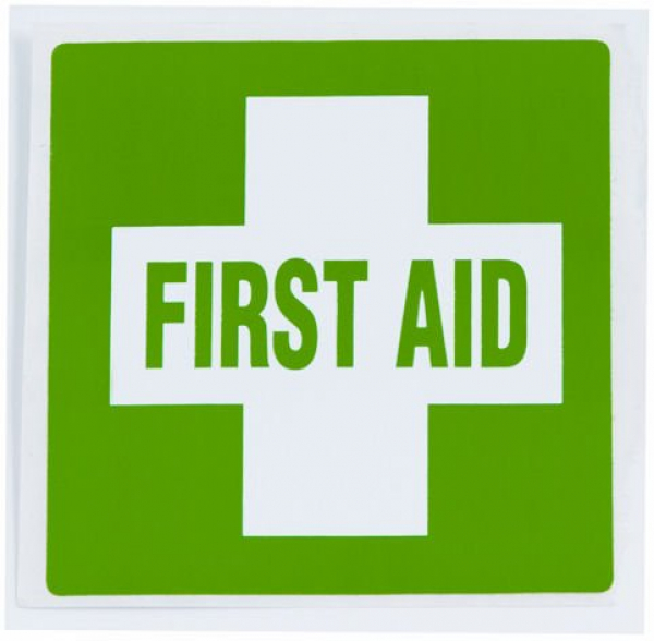 Uneedit LABEL: FIRST AID KIT 60mm x 60mm - Adhesive SMALL