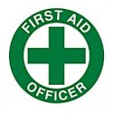 STICKER: HARD HAT 50mm 'FIRST AID OFFICER'  **Single Only Sticker PHH3S