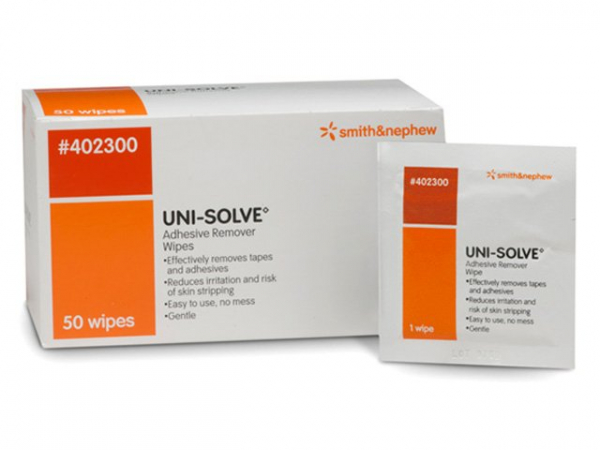 Smith & Nephew UNISOLVE ADHESIVE SOLVENT WIPES 50's