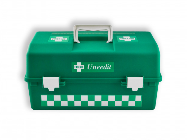 Uneedit F.A.KIT: COMPLETE SPORTS GENERAL PURPOSE KIT in PORTABLE GREEN PLASTIC CASE