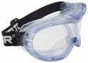 GOGGLE: 3M CLEAR INDIRECT VENT FAHRENHEIT POLY HARD COAT LENS, PVC FRAME 3M40171